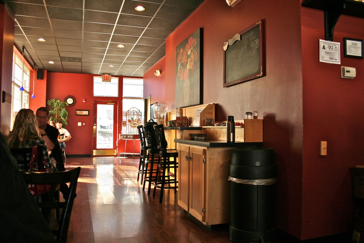 Inside the Rocky River Coffee Company in Harrisburg.