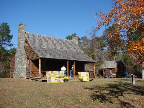 The Kron family's homeplace, recreated on its original site at Morrow Mountain State Park. Photo: John D. Young