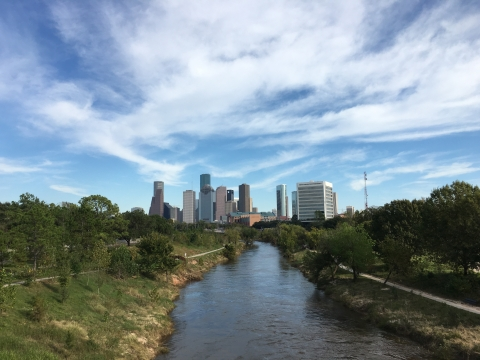 Buffalo Bayou looking toward downtown Houston