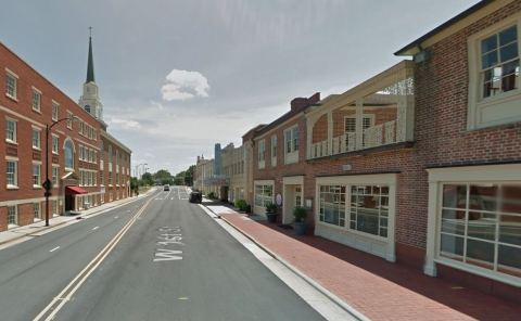 Downtown Kannapolis. West First St., Gem Theatre. Photo: Google Street View