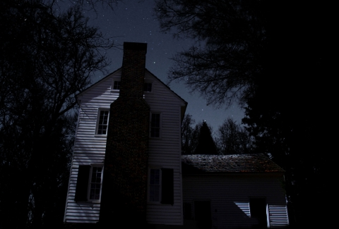 A spooky look at the historic Torance House and Store in north Mecklenburg. Click image for photo gallery. Photo: Kevin J. Beaty