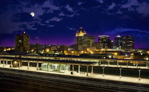 Greensboro skyline: One of N.C.'s three largest metro areas along I-85. Photo: Greensboro Area Convention and Visitors Bureau