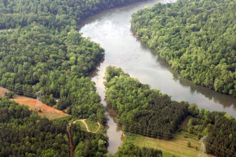 Catawba River in York County, aerial view. Photo: Nancy Pierce