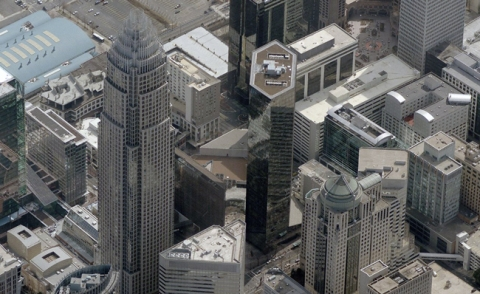 Charlotte's center city. Image: Bing Maps