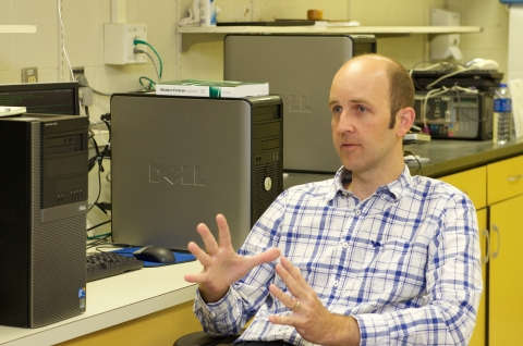 UNCC Assistant Professor Brian Magi of the Department of Geography and Earth Sciences. Photo: Lynn Roberson, UNC Charlotte