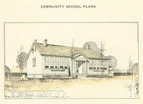 Sketch of a Rosenwald community school. Photo: HistorySouth.org
