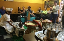 Coffee ceremony at Ethiopian cafe-grocery store, Nile Grocery, in Charlotte. Photo: Claire Apaliski