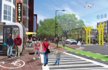 Image from draft South End Vision Plan showing a vision for South Boulevard at Rensselaer Avenue