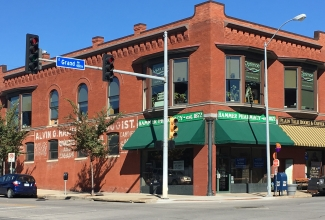 A refurbished corner store building in Des Moines, Iowa. Photo: David Walters