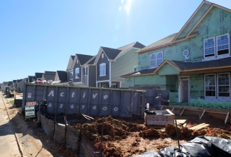 Houses under construction in February in the Berewick development off Dixie River Road. Photo: Nancy Pierce