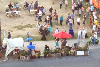 In 2012, a miniature park was created for an evening next to Food Truck Friday in South End. Photo: Keihly Moore