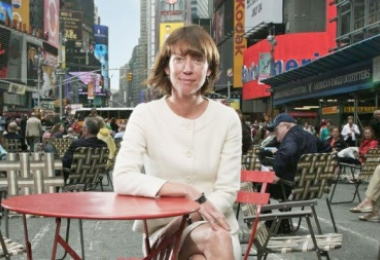 Janette Sadik-Khan in New York's Times Square, a portion of which has been closed to auto traffic to create plazas for pedestrians. Photo: Olugbenro Photography