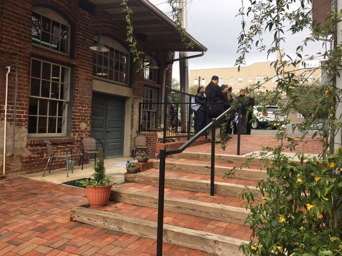 Uptown Shelby alley that a Boy Scout restored. Photo: Mary Newsom