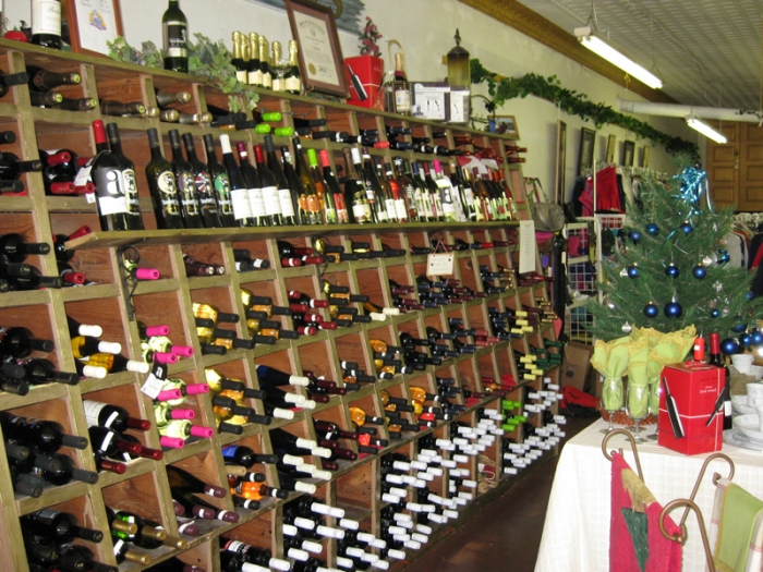Wine for sale in downtown Bessemer City, which OK'd alcohol sales in 1969, mixed drinks in 2006. Photo (2011): John Chesser