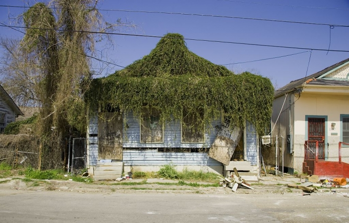 Damaged house in New Orleans in 2006 Photo: Carol M. Highsmith's America, Library of Congress, Prints and Photographs Division