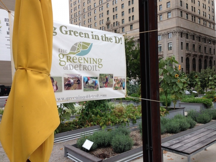 Lafayette Greens garden in Detroit donates food to Gleaners Community Food Bank of SE Michigan. Photo: Mary Newsom