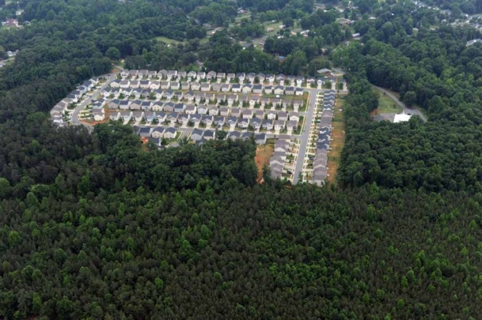 How will the Charlotte region grow? Photo of Mecklenburg subdivision: Nancy Pierce