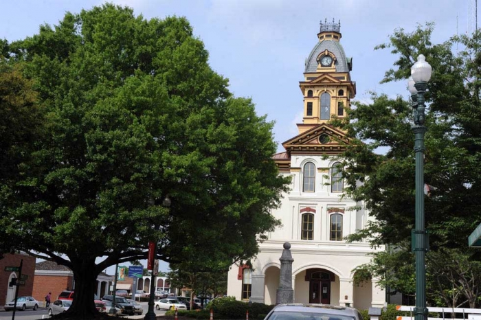Historic Cabarrus County Courthouse in Concord is on Union St., a winner of the Great Places award in 2013.  (Photo: Nancy Pierce)