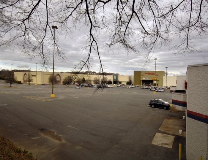 A failing Eastland Mall in 2008, before the city bought, demolished it. Photo: Nancy Pierce