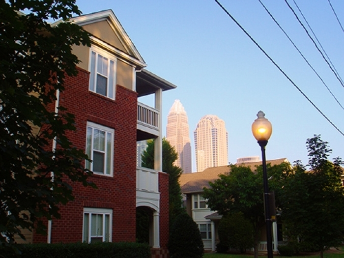 Housing in uptown's First Ward neighborhood. Photo: staff