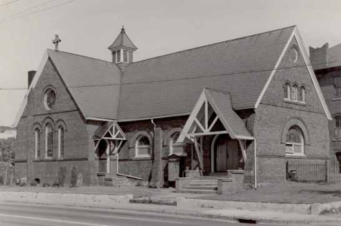 Now-demolished Third Ward church, St. Michael and All Angels