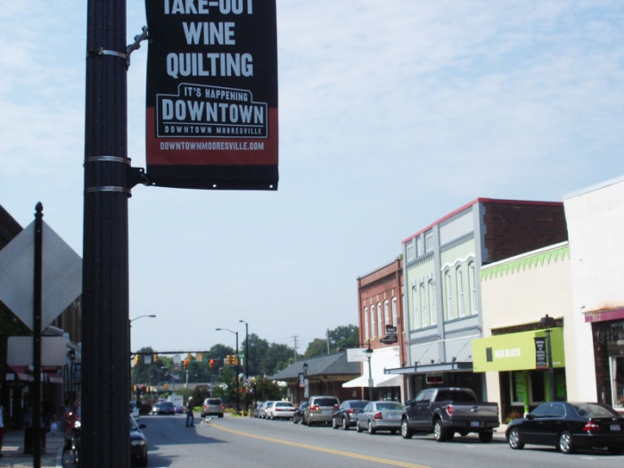 Downtown Mooresville, shown in 2011.