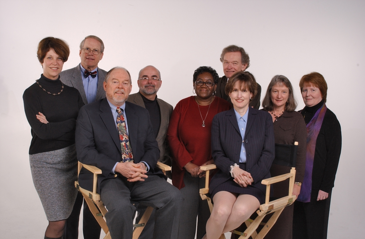 Mary Newsom, on the left, circa 2006 with the Charlotte Observer editorial board.