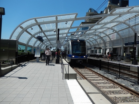 The Blue Line in uptown Charlotte