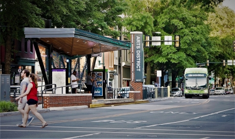 Richmond Va. bus rapid transit system shelter