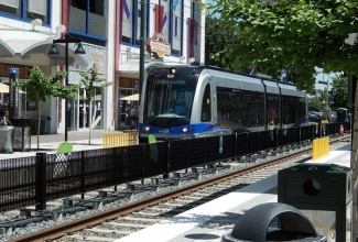 The LYNX Blue Line could someday run to Pineville and Ballantyne. Photo: Nancy Pierce