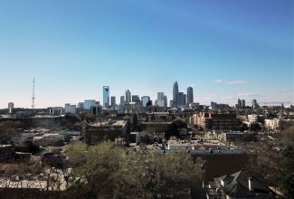 A view of uptown Charlotte from the Elizabeth neighborhood. Photo: UNC Charlotte Urban Institute