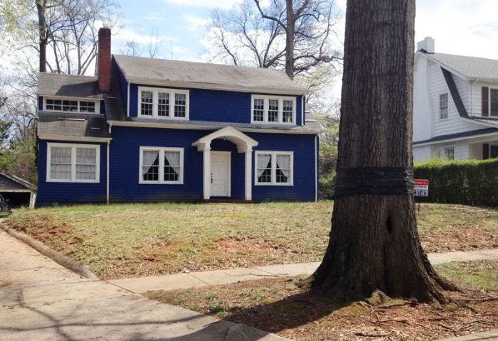 Owners chose to demolish this almost century-old home on Park Road in Dilworth's historic district. Photo: Chuck McShane