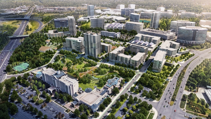 """Ballantyne Reimagined"" seeks to redevelop an office park into a mixed-use hub of activity."