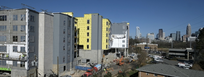 Construction on Stonewall Street in Charlotte, NC