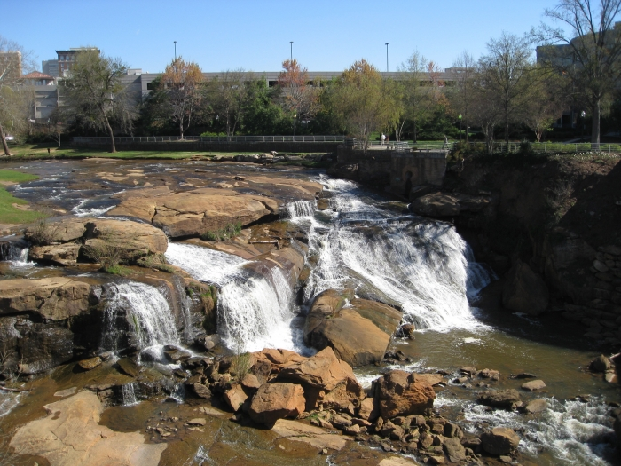 Falls Park in downtown Greenville, S.C. Photo: Mary Newsom