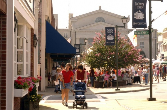 Downtown Lincolnton (shown at 2006 Apple Festival). Photo: Nancy Pierce