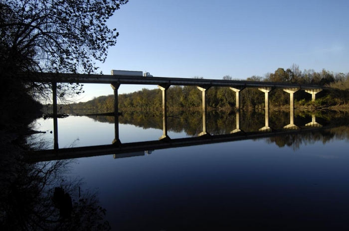 Bridge over the Pee Dee River on N.C. 109 connects Anson County to Richmond County. Photo: Nancy Pierce
