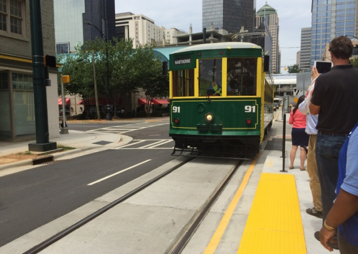 Charlotte streetcar is launched July 14. Photo: Erin Chantry